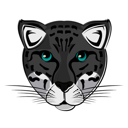 Leopard Wild animal head vector illustration graphic design Illustration