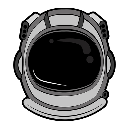 Astronaut helmet cartoon vector illustration graphic design