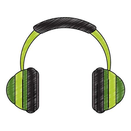 Music headphones device vector illustration graphic design Illustration