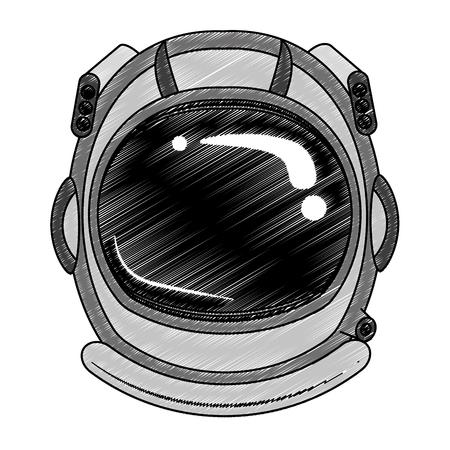 Astronaut helmet cartoon