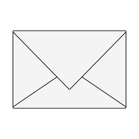 Mail envelope symbol vector illustration graphic design Ilustrace