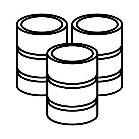 Servers disks technology vector illustration graphic design