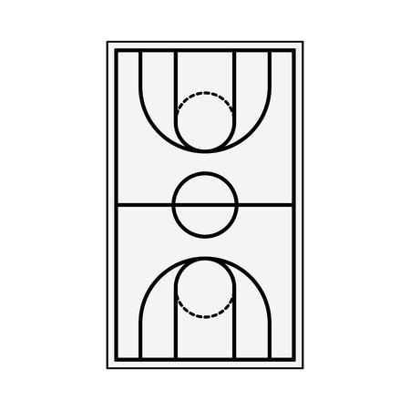 Basketball field topview vector illustration graphic design Ilustração