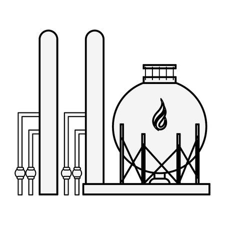 Natural gas factory  illustration