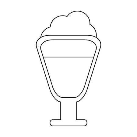 Capuccino coffee cup vector illustration graphic design