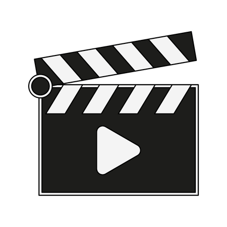 Clapboard movie symbol vector illustration graphic design
