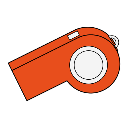 Referee whistle isolated vector illustration graphic design vector illustration graphic design
