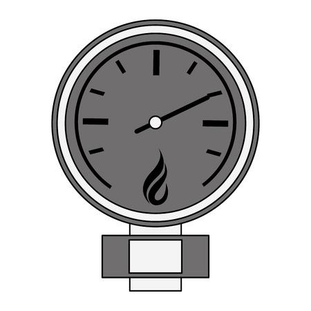 Natural gas pressure meter vector illustration graphic design