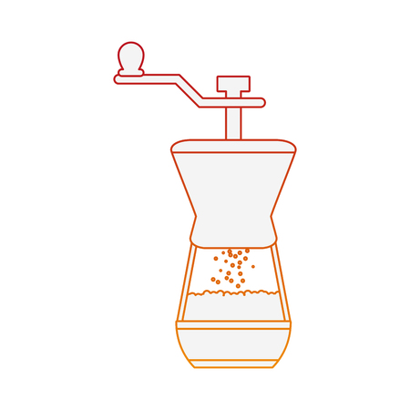 Coffee grinde isolated vector illustration graphic design Illustration