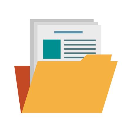 Folder document symbol illustration graphic design