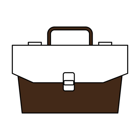 Illustration of a brown and white business briefcase symbol Vettoriali