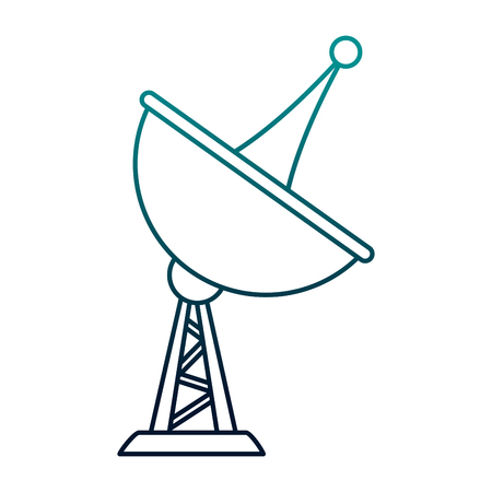 Line illustration of a telecommunication antenna symbol Illustration