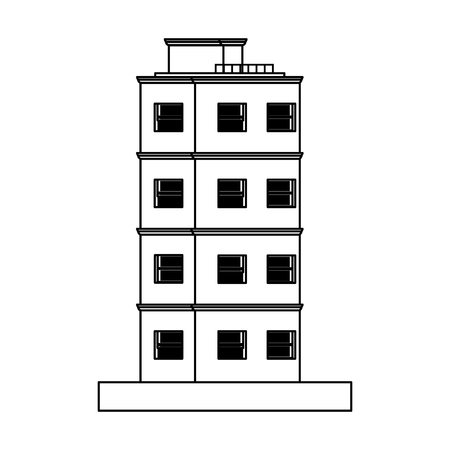 Pixelated building isolated vector illustration graphic design