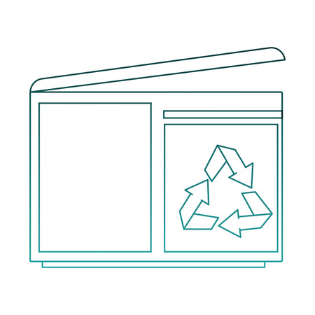 Pixelated trash container vector illustration graphic design Ilustração
