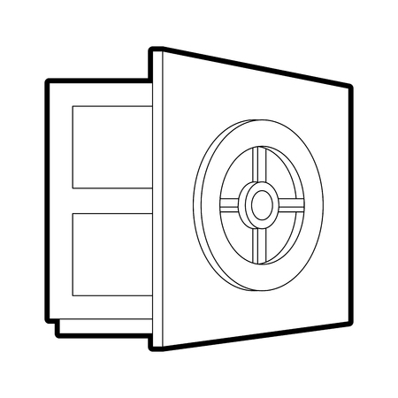 Pixelated strongbox open vector illustration graphic design