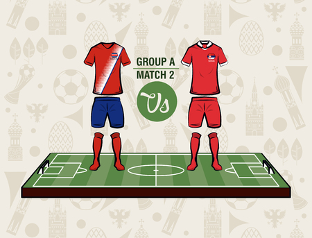 Football sport wear russia 2018 vector illustration graphic design