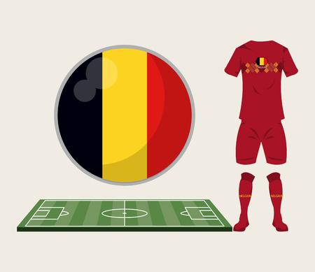 Voetbal België sport slijtage vector illustratie grafisch ontwerp