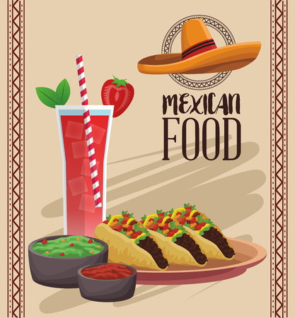 Mexican food menu card vector illustration graphic design