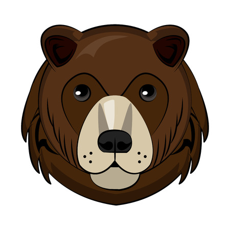 Bear Wild animal head vector illustration graphic design Illustration