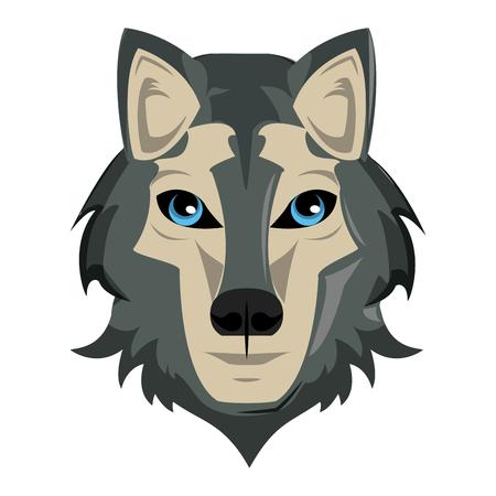 Wolf Wild animal head vector illustration graphic design