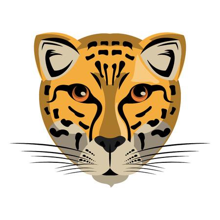 Leopard Wild animal head