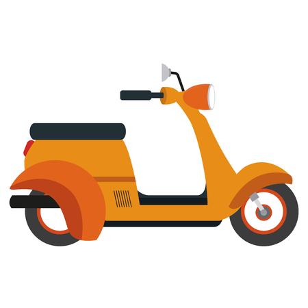 Scooter motorcycle cartoon vector illustration graphic design Illustration