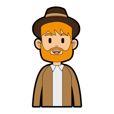Young and fashion man cartoon icon vector illustration graphic design