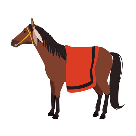 Indian horse cartoon vector illustration graphic design Illusztráció