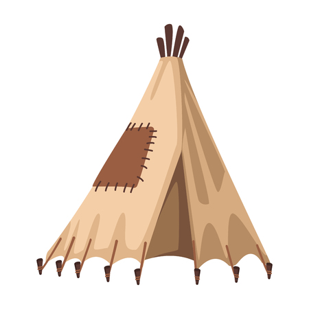 Indian tent cartoon vector illustration graphic design