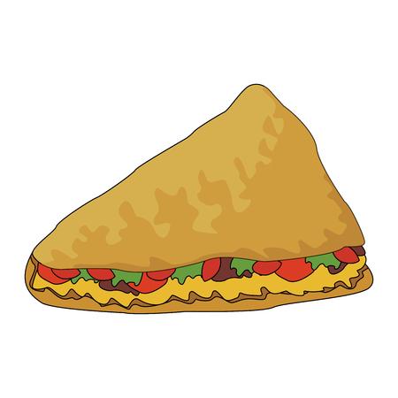 Quesadiilas mexican food vector illustration graphic design Illustration