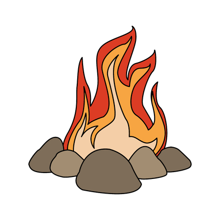 Bonfire cartoon isolated vector illustration graphic design Stock fotó - 98054748