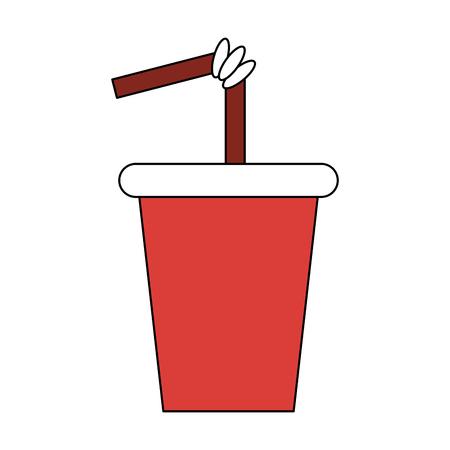 Soda cup to go vector illustration graphic design Banco de Imagens - 98055275