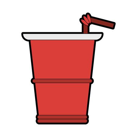 Soda cup to go vector illustration graphic design Banco de Imagens - 98055297