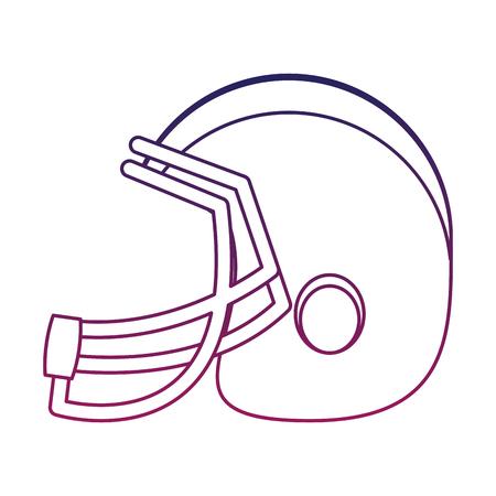 American football helmet vector illustration graphic design