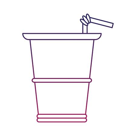 Soda cup to go vector illustration graphic design Ilustração