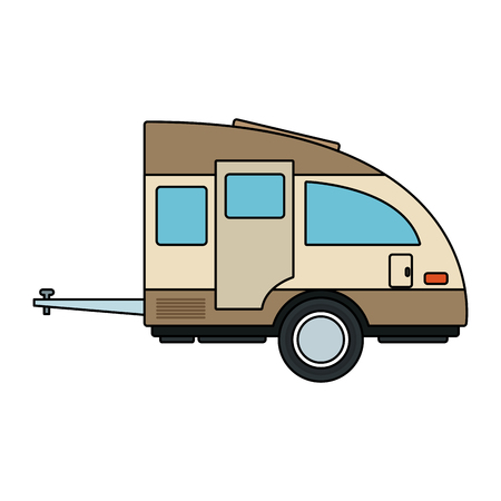 Travel trailer isolated vector illustration graphic design Illustration
