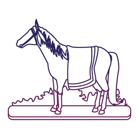 Indian horse cartoon vector illustration graphic design Illustration
