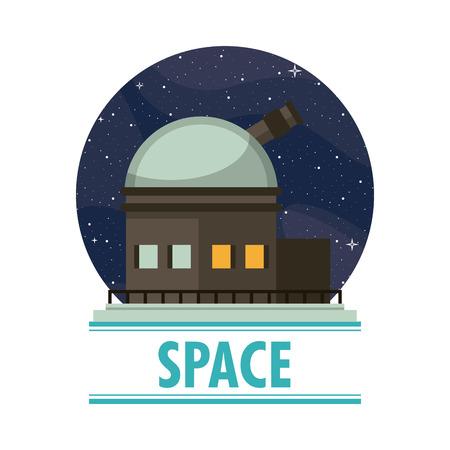 Very large telescope round symbol vector illustration graphic design Vectores