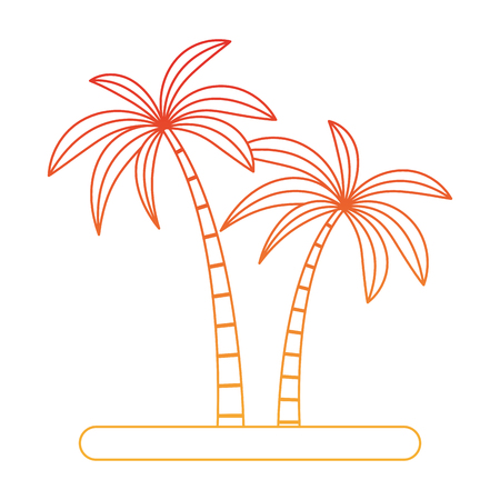 Tree palms cartoon vector illustration graphic design