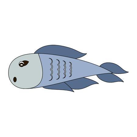 Fish seafood cartoon vector illustration graphic design. Illustration
