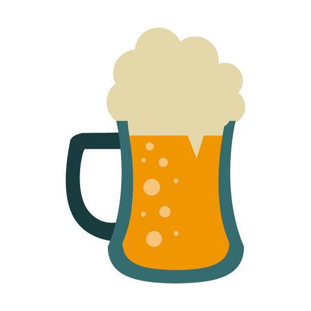 Beer glass cup vector illustration graphic design. Illustration