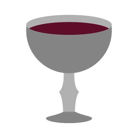 Diseño gráfico del ejemplo del vector del símbolo del cáliz sagrado