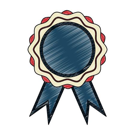 Award ribbon symbol vector illustration graphic design