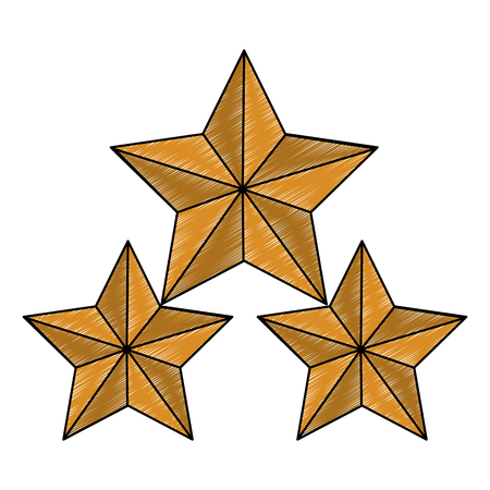 Stars shape symbol vector illustration graphic design