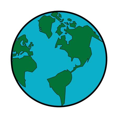 Earth planet symbol vector illustration graphic design