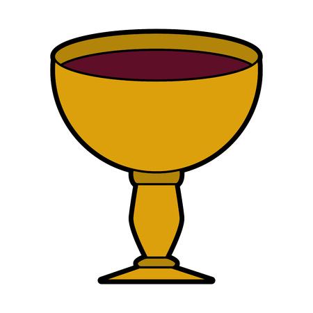 Sacred chalice symbol vector illustration graphic design