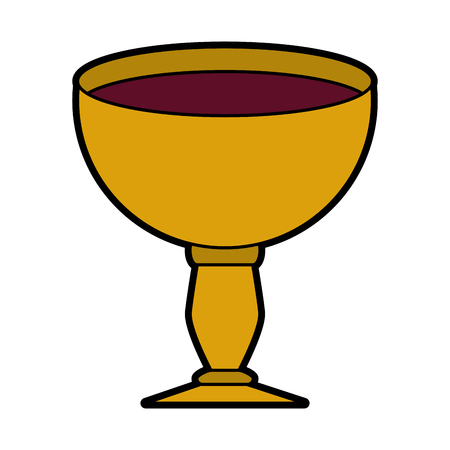 Sacred chalice symbol vector illustration graphic design
