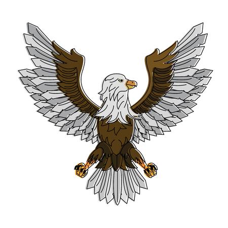 Eagle hawk symbol vector illustration graphic design Illustration
