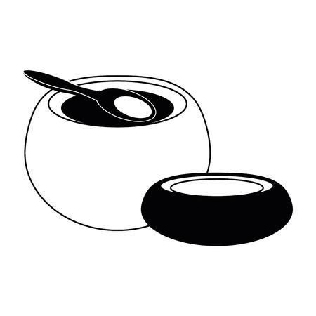 SPA aromatherapy bowl vector illustration graphic design