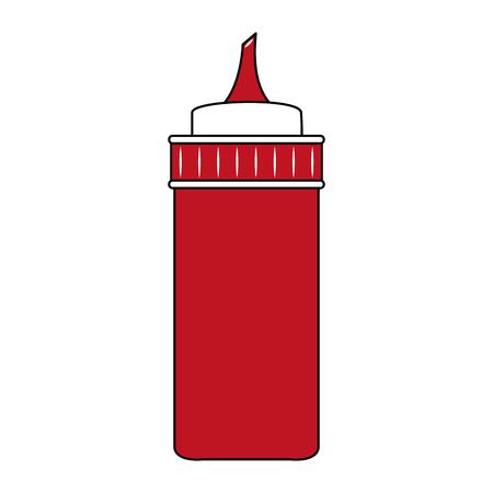 Ketchup sauce bottle vector illustration graphic design Illustration